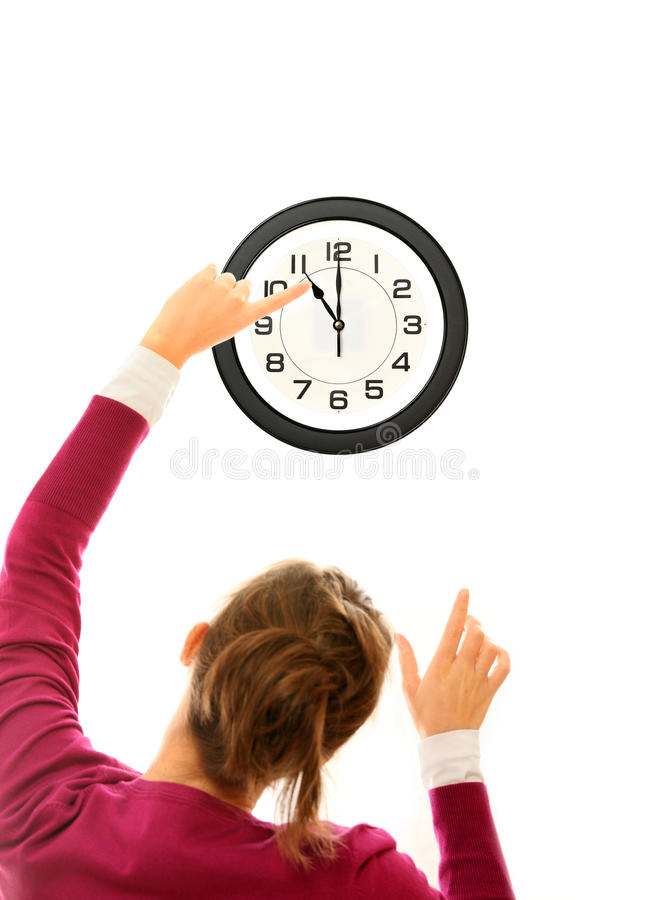 Download Changing time stock photo. Image of pointing, businesswoman - 18575678