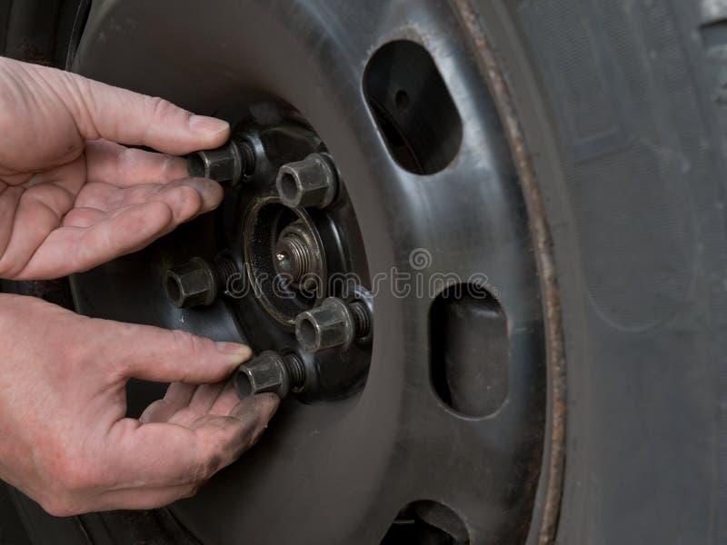 Changing Wheel Stock Image