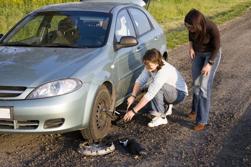 Download Changing The Wheel Stock Image - Image: 6468411
