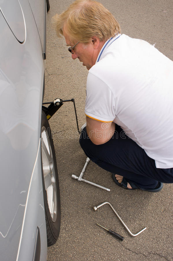 Download Changing The Wheel On A Car Stock Image - Image: 23386531