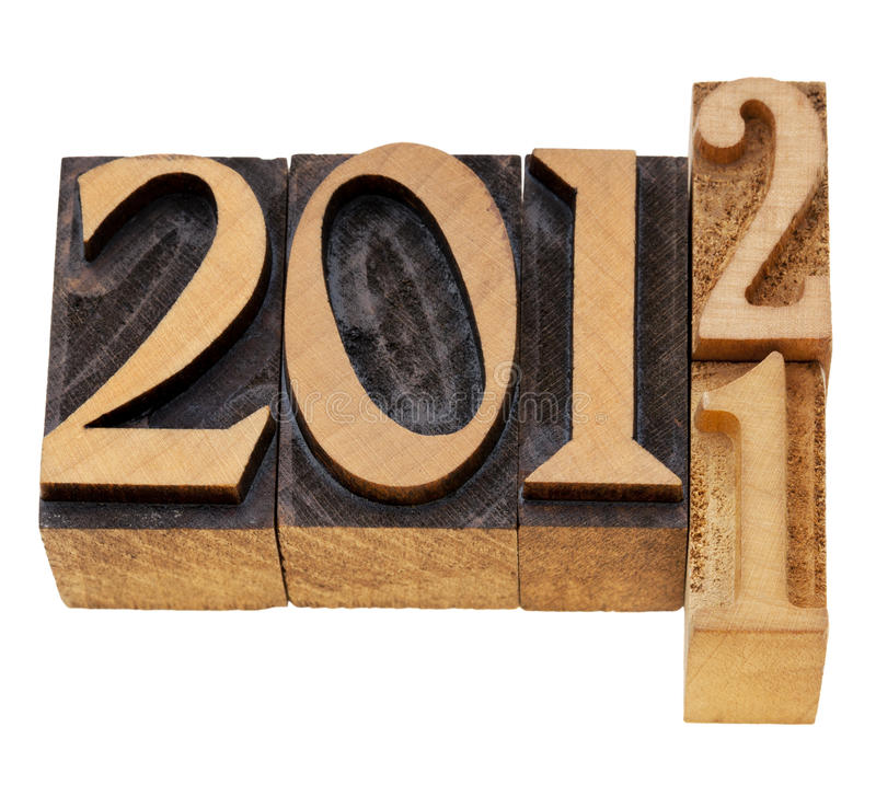 Download Changing Years 2011 And 2012 Stock Photo - Image: 22389790