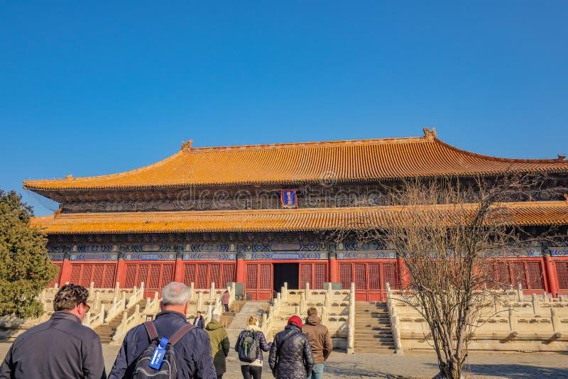 Changling gravvalv av Ming Dynasty Tombs Shisanling på den beijing staden Kina Kina - en UNESCOvärldsarv royaltyfri bild