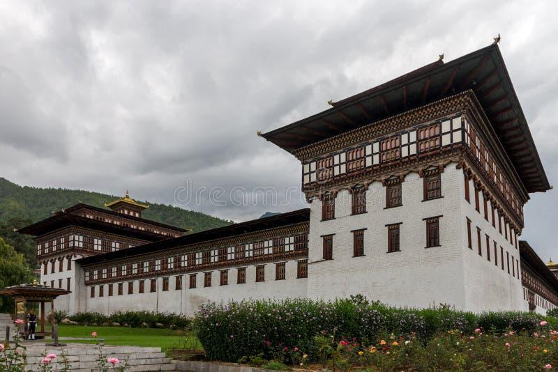 Changnagkha Lhakhang, Paro gubernialny Bhutan Sep 2015 obraz royalty free