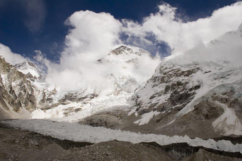 Changtse, Khumbutse, y Everest foto de archivo