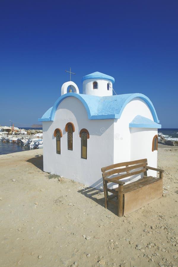 chania教会克利特希腊 库存图片