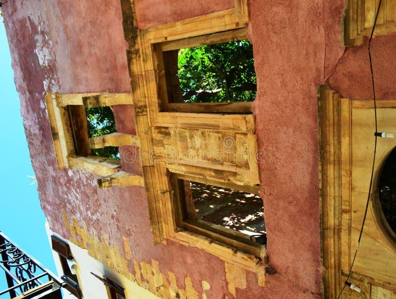 Chania öppen-luftar cafes arkivbilder
