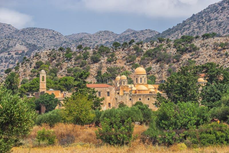 Chania, Ελλάδα - τον Αύγουστο του 2017: Μοναστήρι Agia Triada Tzagaroli στην περιοχή Chania στο νησί της Κρήτης, Ελλάδα στοκ φωτογραφία