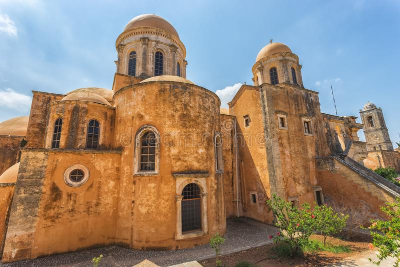 Chania, Ελλάδα - τον Αύγουστο του 2017: Μοναστήρι Agia Triada Tzagaroli στην περιοχή Chania στο νησί της Κρήτης, Ελλάδα στοκ φωτογραφίες