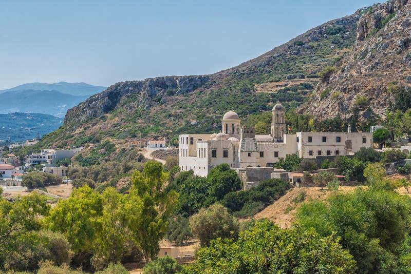 Chania, Ελλάδα - τον Αύγουστο του 2017: Μοναστήρι Odigitria Gonia στην περιοχή Chania στο νησί της Κρήτης, Ελλάδα στοκ εικόνες