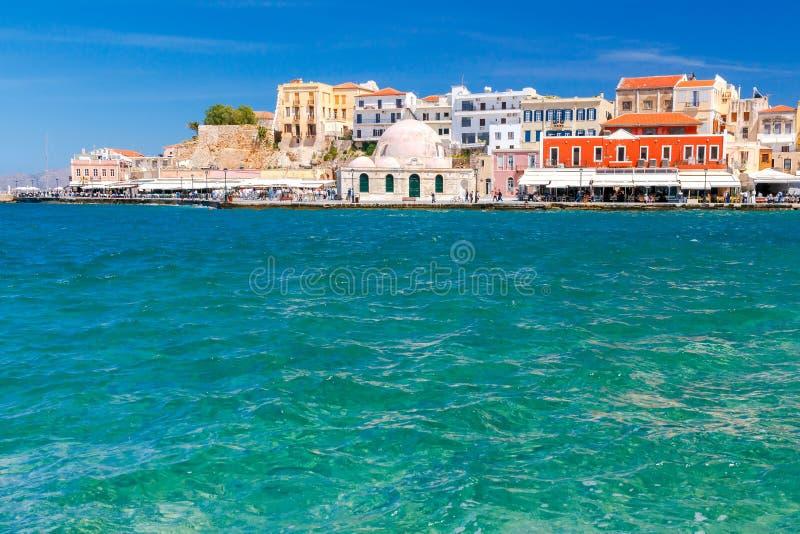 Chania Старая венецианская гавань стоковое фото rf