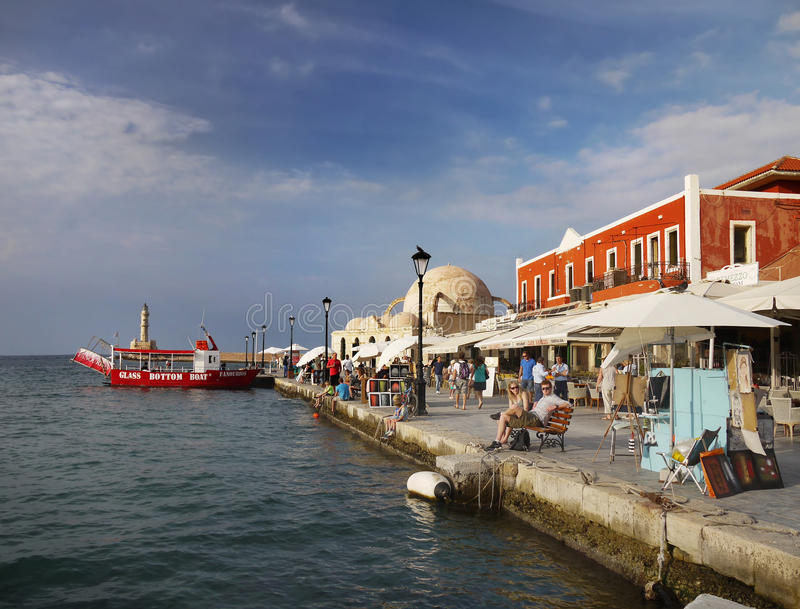 Chania Crete Greece royalty free stock image