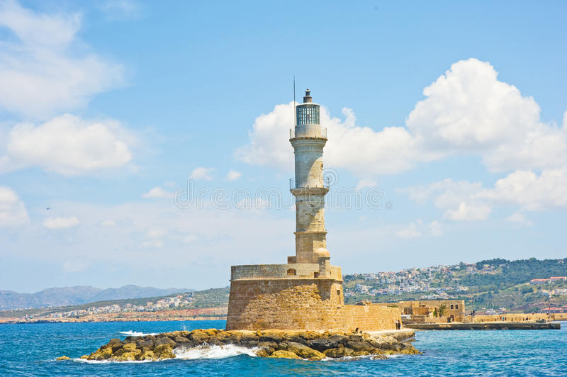 chania Crete latarnia morska obraz royalty free