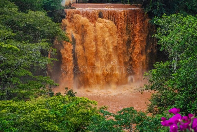 Chania Falls in Thika Kenya Africa.  stock photo