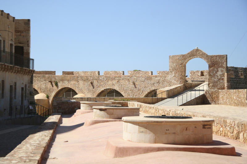 Chania fortress stock photos