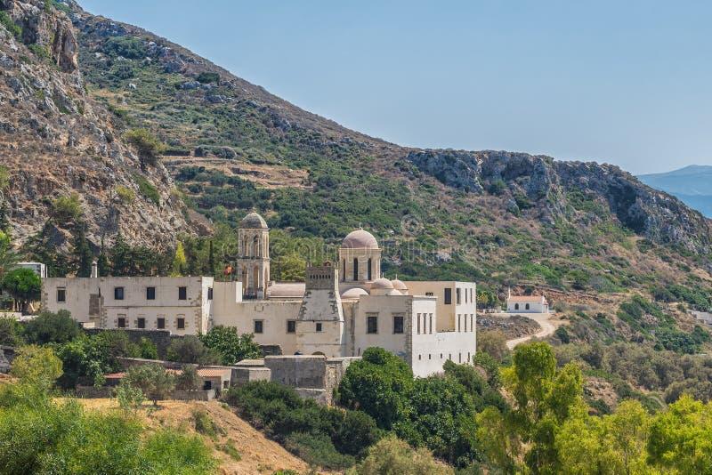 Chania, Grecia - agosto de 2017: Monasterio de Gonia Odigitria en la región de Chania en la isla de Creta, Grecia imagen de archivo