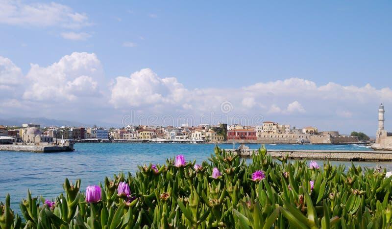 Chania Hafen stockbilder