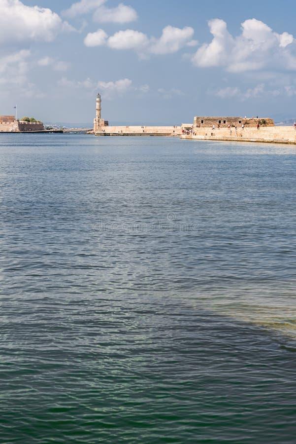 Chania Hafen stockfotos