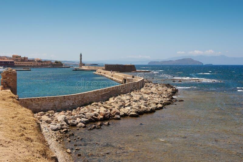 Chania Hafen. Kreta lizenzfreie stockfotos