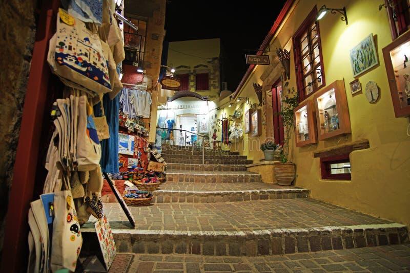 Chania, Kreta, 01 de Tentoonstelling van Oktober 2018 van artisanale producten die kunnen worden bewonderd lopend in de straten v royalty-vrije stock afbeelding