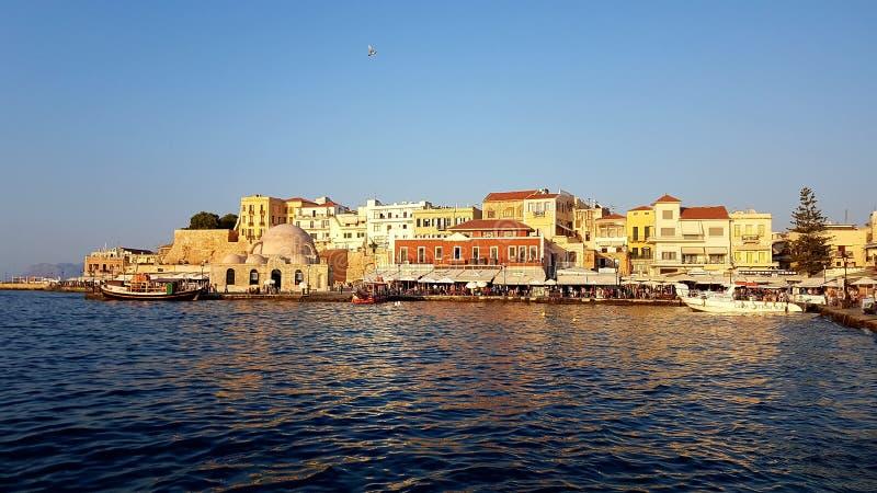 Chania, Kreta, Griekenland royalty-vrije stock afbeelding