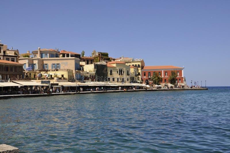 Chania, le 1er septembre : Panorama de littoral de Chania en île de Crète de la Grèce photo libre de droits