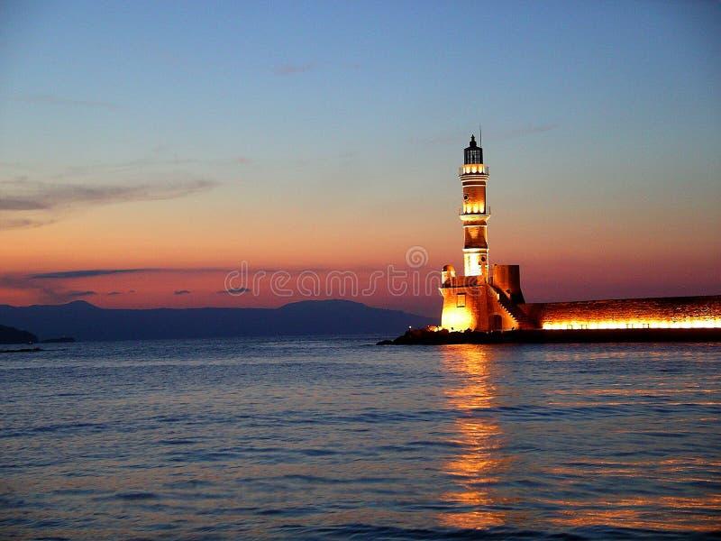 Chania Lighthouse. The Venetian Lighthouse, Chania, Crete, Greece