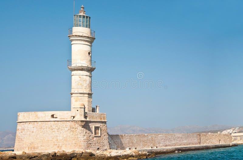 Chania lighthouse stock photography
