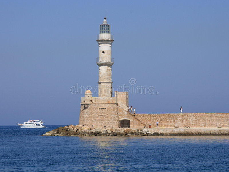 Download Chania lighthouse stock image. Image of seashore, safe - 8498497