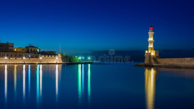 Cool blues at the Lighthouse royalty free stock photography