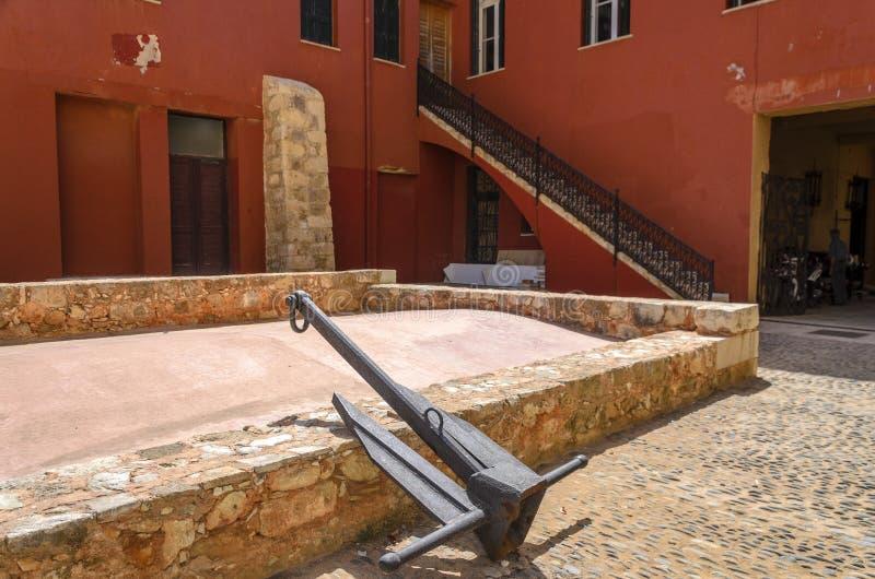 Chania - 21 Mei - Oude stad. Het Maritieme Museum van Chania, Kreta, stock fotografie