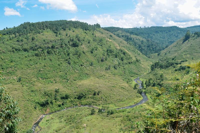 Chania River in Aberdare Ranges, Kenya. Chania River in Nyeri County, Aberdare Ranges, Kenya stock photos