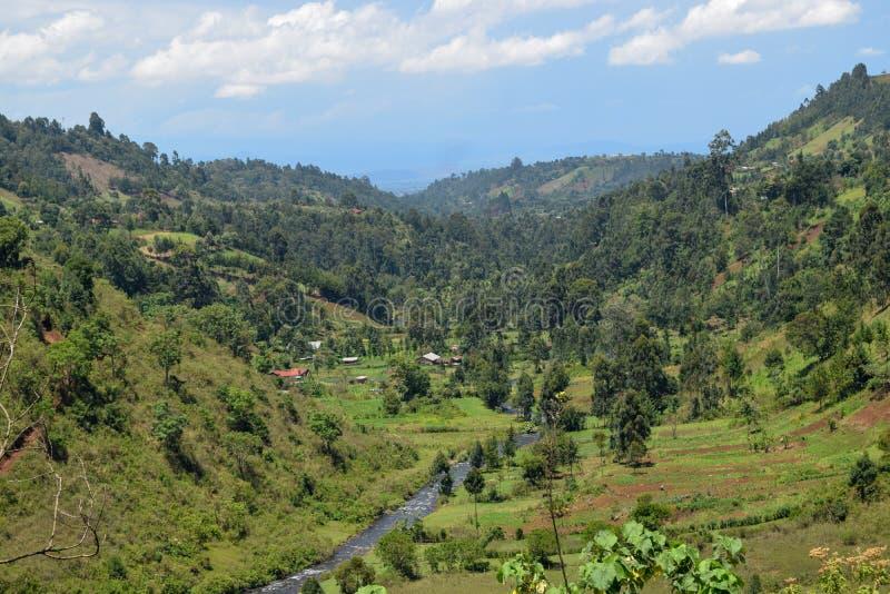 Chania River in Aberdare Ranges, Kenya. Chania River in Nyeri County, Aberdare Ranges, Kenya stock photo