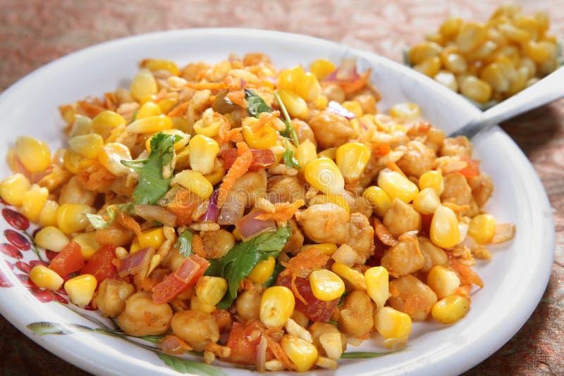 Channa Maki sundal, Kondai Kadalai Cholam Sundal, ensalada de maíz negra del garbanzo, fotos de archivo libres de regalías