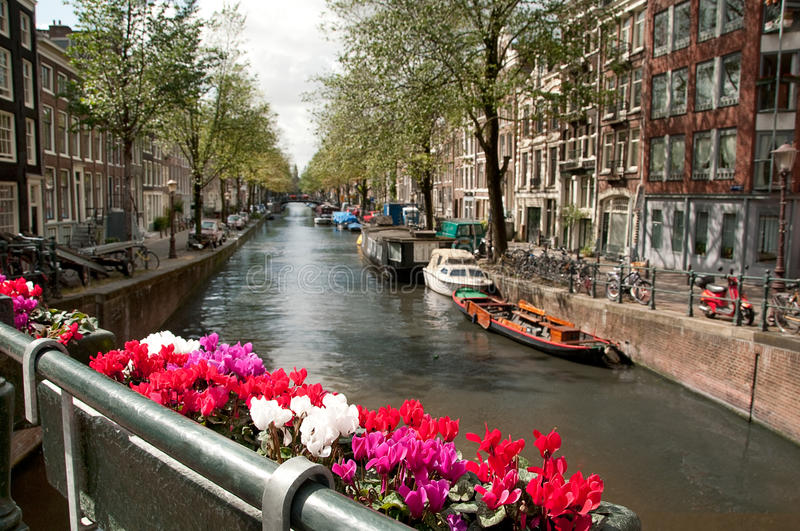 Channel In Ansterdam Royalty Free Stock Photography