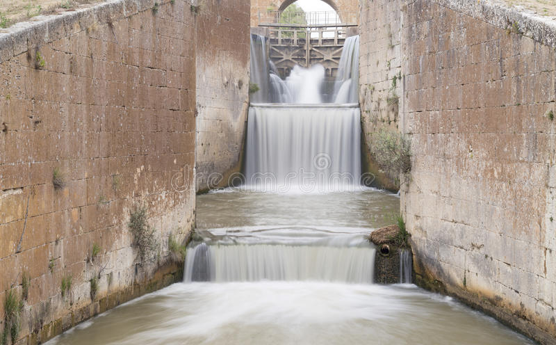 Channel of Castile, spain. Channel of Castile in ribas de campos, spain stock photography