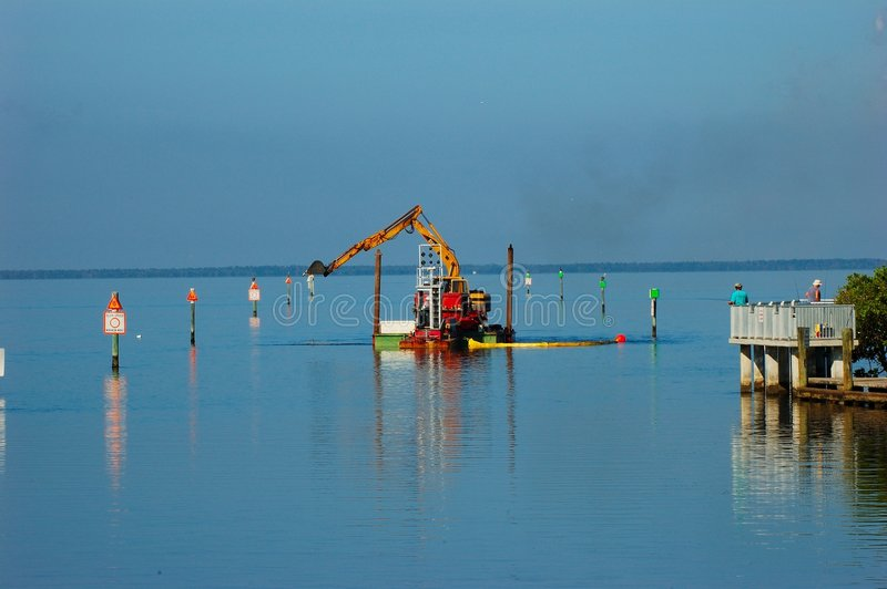Download Channel Dredging stock image. Image of dredge, markers - 1404945