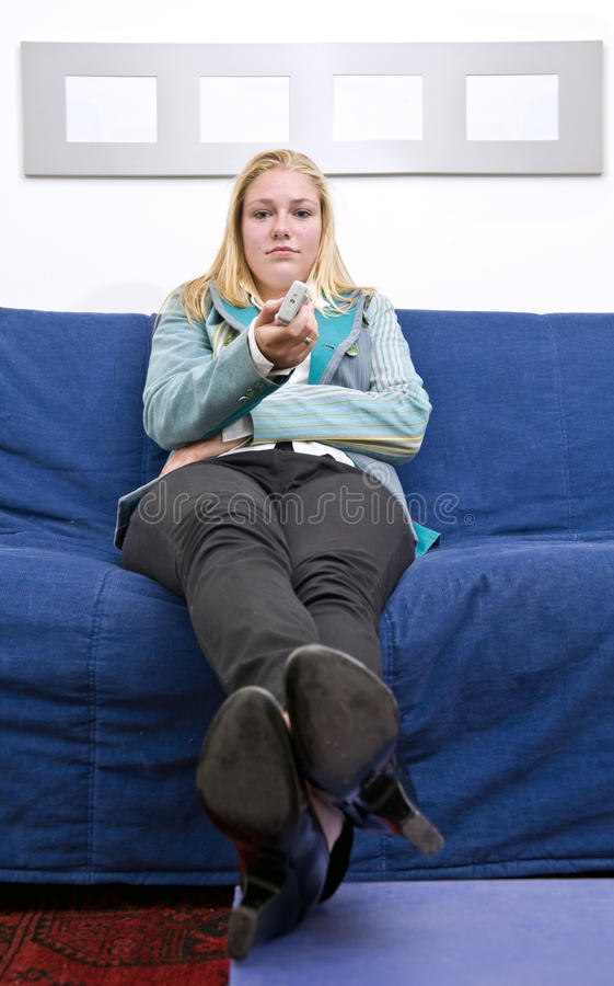 Download Channel surfing stock photo. Image of picture, resting - 13242976