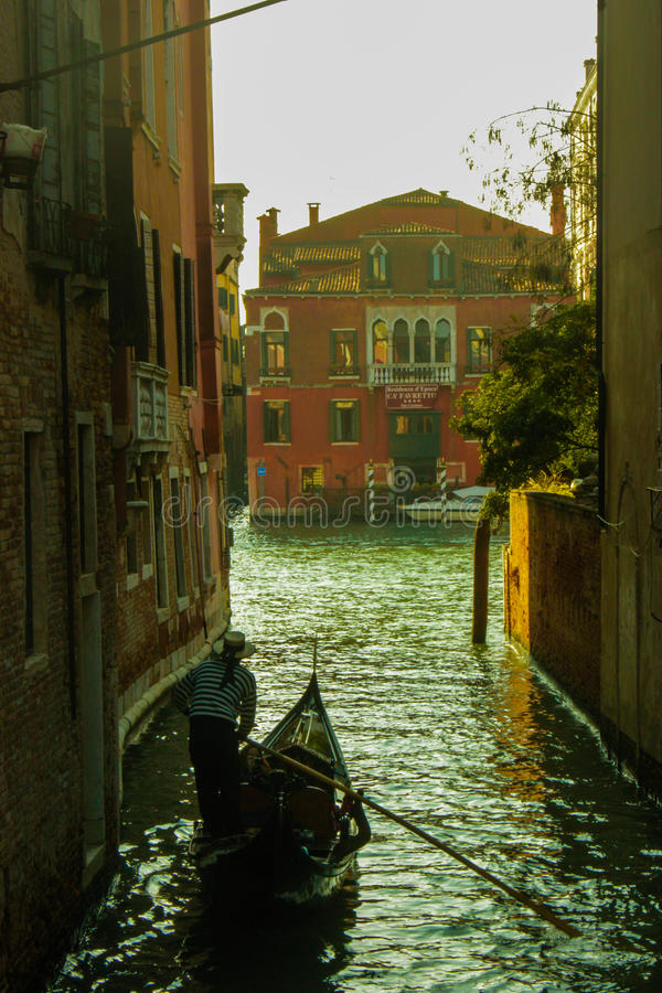 Channel Venice. Channel gondola water Venice Italy stock images