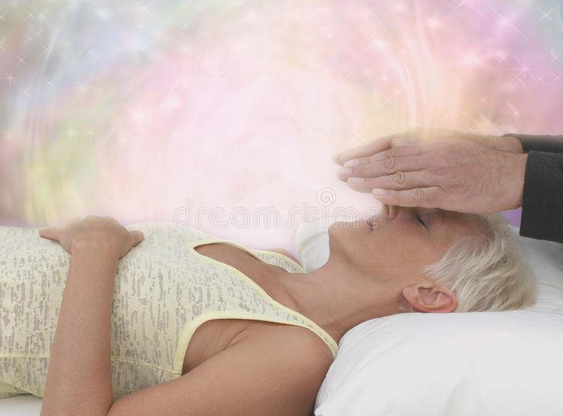 Channeling Healing Energy royalty free stock image