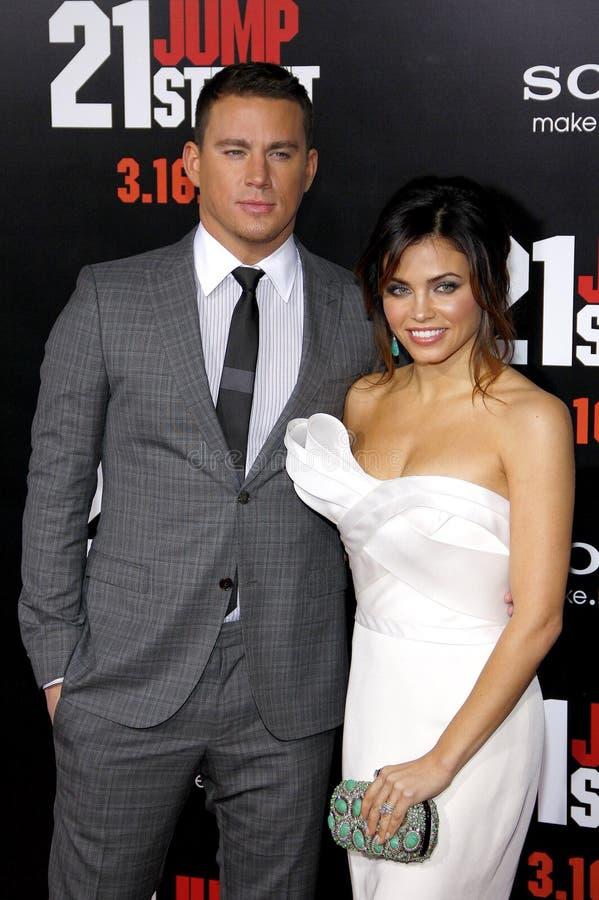 Channing Tatum and Jenna Dewan stock images