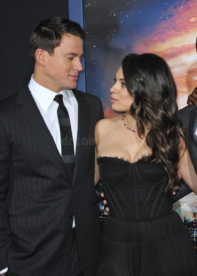 Channing Tatum & Mila Kunis imagens de stock royalty free