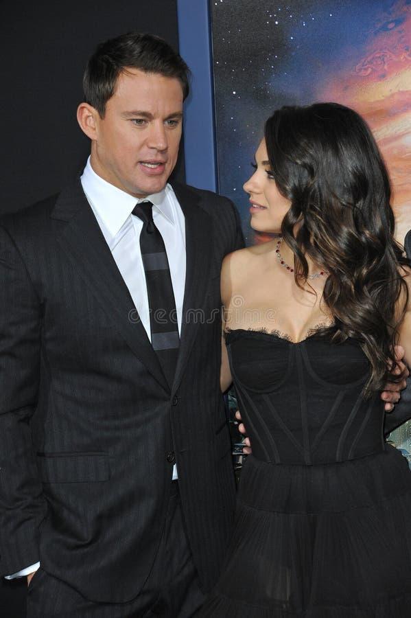 Channing Tatum & Mila Kunis imagem de stock