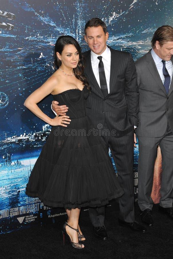 Channing Tatum & Mila Kunis foto de stock royalty free