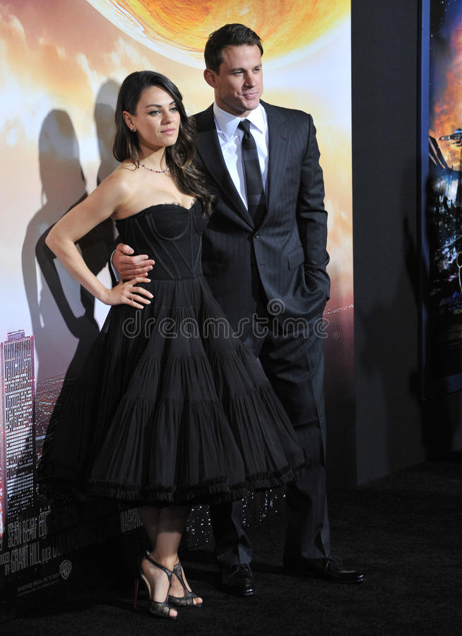 Channing Tatum & Mila Kunis fotografia de stock royalty free
