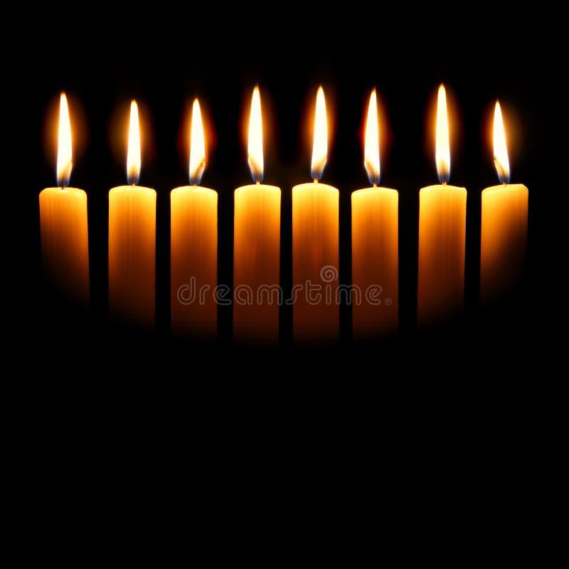 Channukah Kerzen stockbild