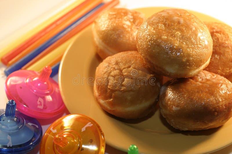Download Chanoeka stock foto. Afbeelding bestaande uit joods, doughnut - 48666