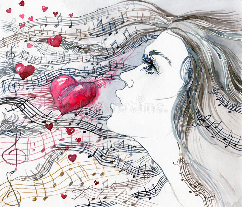 Chanson d'amour illustration stock
