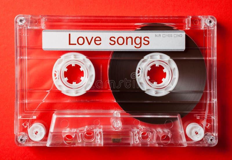 Chansons d'amour sur la cassette sonore de vintage photographie stock