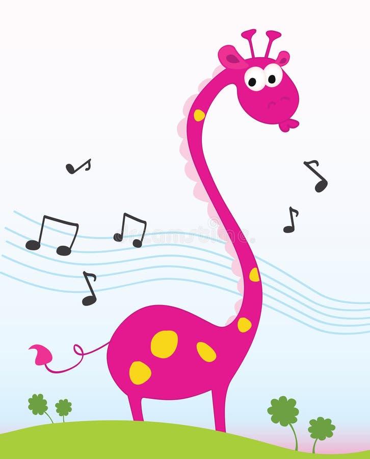 chant de giraffe illustration stock