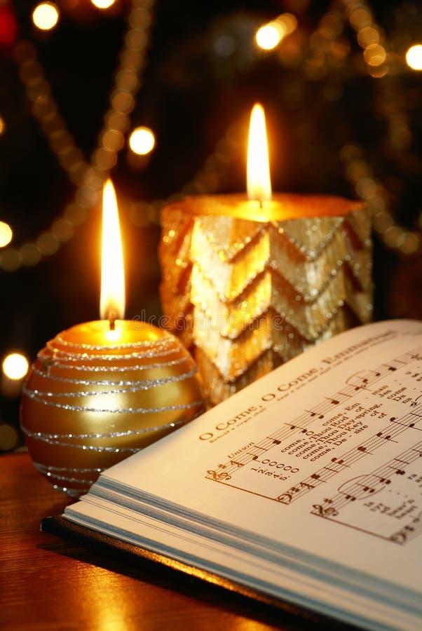 Chant de Noël photographie stock libre de droits